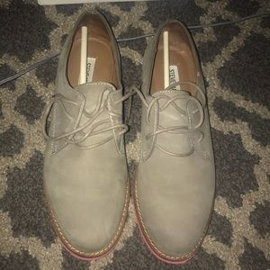 Steve Madden loafers with a pink bottom